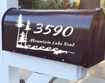 I Love the Outdoors Mailbox Decal