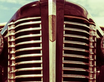 Buick 8 Grille - Rustic Wall Art - Classic Car Art Prints - Retro Print - Vintage Car Photography - Garage Art - Father's Day - 8x10