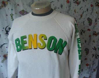 Vintage 80's Benson Bunnies White Crew Neck Sweatshirt Sz M