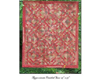 Indian Summer Quilt Pattern PDF Reproduction Traditional Style QRD370