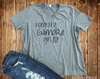 Honorary Gilmore Girl Bella+ Canvas Relaxed Fit Tee, Gilmore Girls, Lorelei Rory Gilmore, Stars Hollow, I'd Rather Be Watching Gilmore Girls