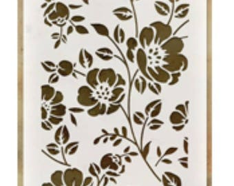 Floral layering stencil