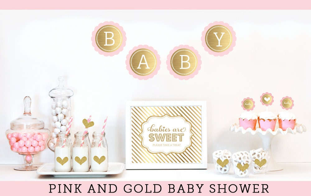 Baby Girl Shower Decorations Pink Baby Shower Decor Baby