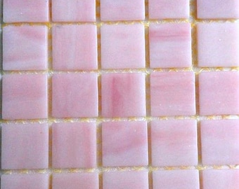 """20mm (3/4"""") Cotton Candy Bubble Gum Pink Tiffany STAINED GLASS Mosaic Tiles//Mosaic Supplies//Crafts//Mosaic Pieces//Jewelry"""