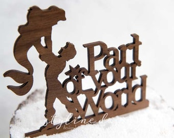 Part of Your World Little Mermaid Inspired  - Event Wedding Cake Topper