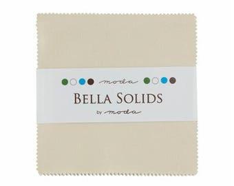 Charm Pack-5 inch squares-Moda-Natural-Off White-Solid