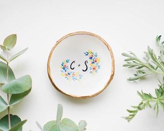 Personalized Wedding Gift  / Ring Dish / Bridesmaid Gift / Personalized Gift / Jewelry Dish / Engagement Gift / Gift for Her / Personalized