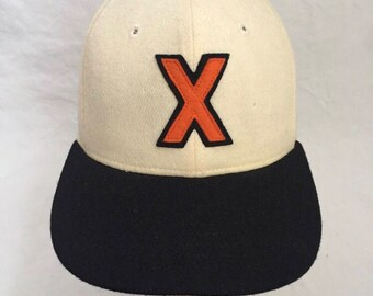 vintage cuban x giants fitted hat adult size 6 7/8 deadstock NWT 90s made in USA