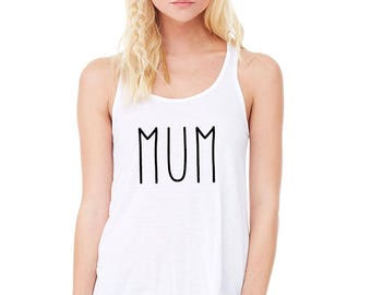 mum, mums the word, mom shirt, gift for mom, mothers day gift, mom life tank  (black design)