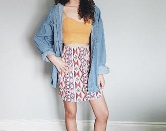 Vintage* High Waisted Mini Skirt