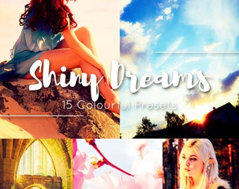 Shiny Dreams 15 Lightroom Presets / Moody Blogging Filters / Instagram Portrait / Travel Food Film / Wedding  Family  Children Newborn Kids
