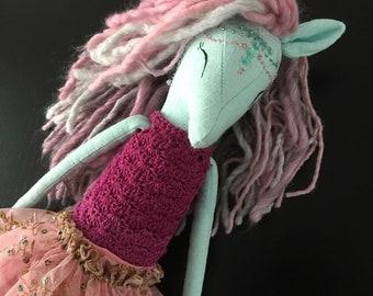 Unicorn princess doll / collecter item ooak