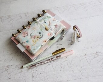 Mini planner sticker holder - personal sized planner - mini happy planner bag - planner pen holder - mini planner cover - daily planner