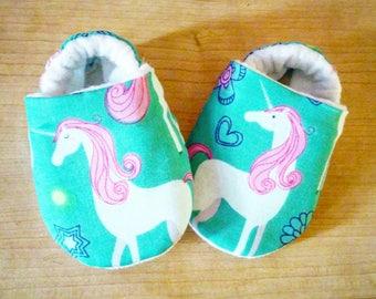 Unicorn Baby Booties