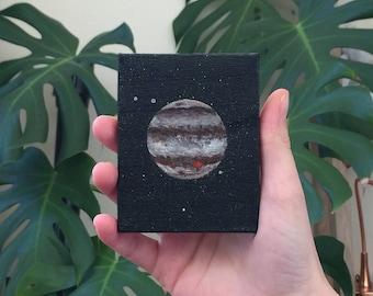 Jupiter | Original Acrylic Painting | 9X7 cm