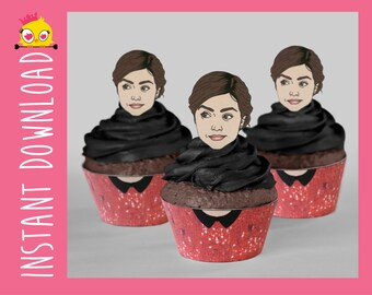 Clara Oswin Oswald Inspired Cupcake Wrappers & Toppers PDF