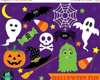75% OFF SALE Halloween Clipart, Digital Clipart, Commercial Use - UZ1017