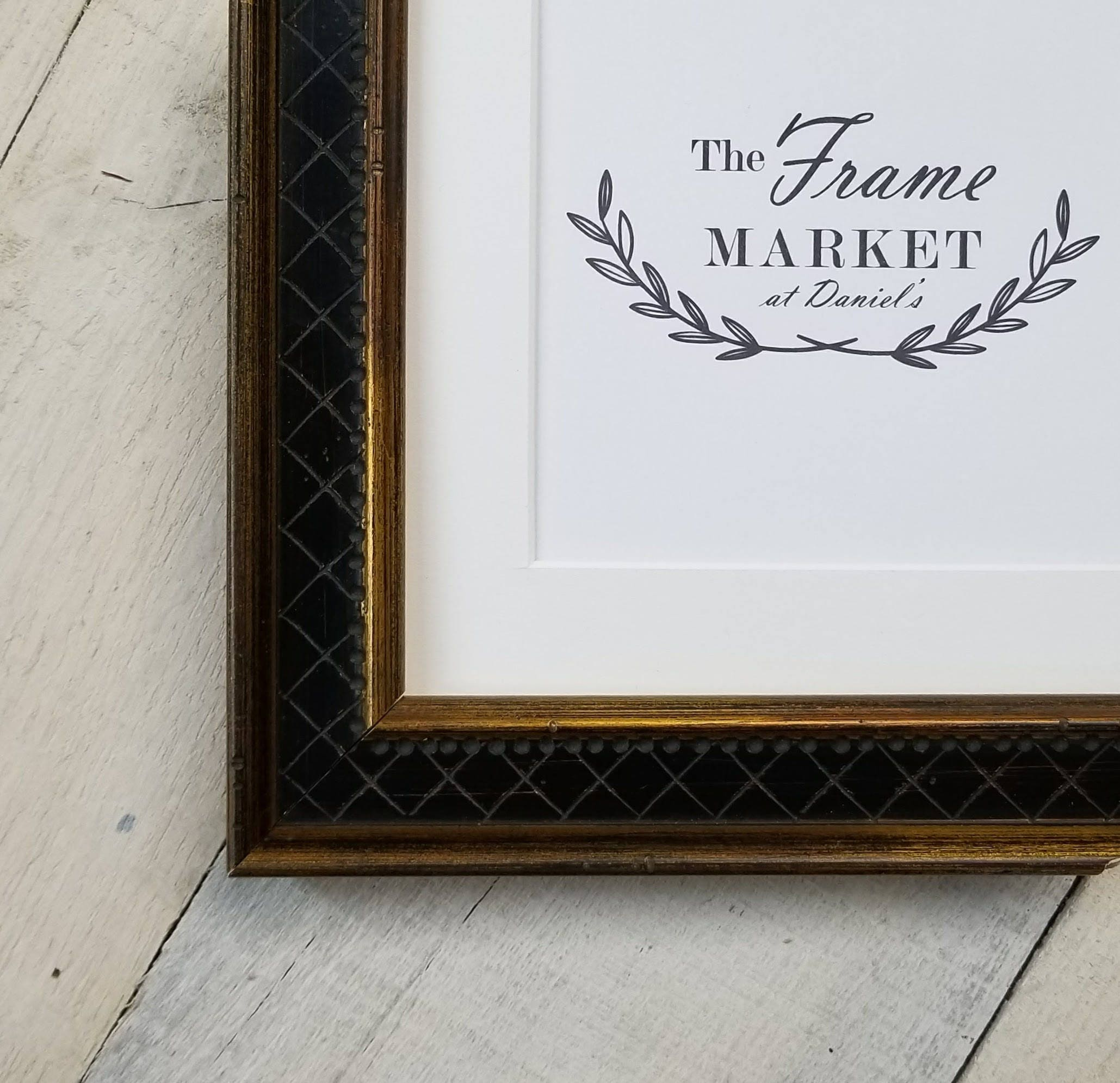 Aileen Gold Wood Picture Frame With White Mat 8x10 9x12