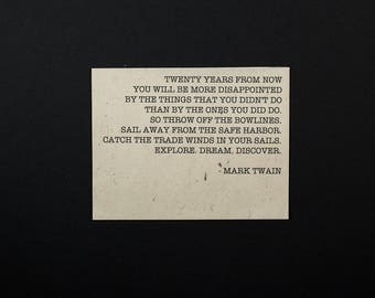 Good Advice: Mark Twain on Lokta Paper