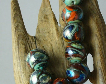 SRA Lampwork Glass Beads by Catalinaglass  The Planets
