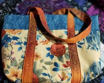 Handmade cotton shoulder bag