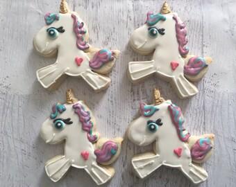 Whimsical Unicorn Sugar Cookies