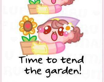 Gardening Sammie   Planner Stickers, Cute Stickers for Erin Condren (ECLP), Filofax, Kikki K, Etc.    SFS132