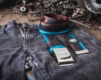 BEST BOYFRIEND GIFT - Cool Boyfriend Gift, Mens Gift Belt - Upcycled Inner Tube Belt + Free Biketube Bag - Boyfriend Gift Idea!