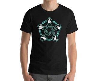 Rock Paper Scissors Lizard Spock Shirt Spock T-Shirt Funny Nerdy Shirt Geeky Shirt Nerdy Christmas Gifts Nerd TShirt Funny Womens TShirt