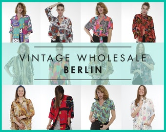 Please contact us before you order ! Vintage SUMMER SHIRTS Mixed lot x 10 items, wholesale, 80s,90s