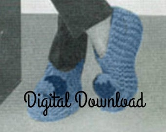Grammys Knit Slipper Pattern Vintage 1958