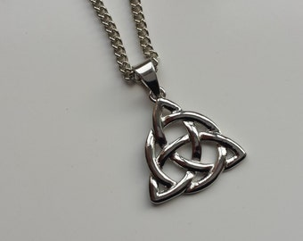 Celtic knot infinity silver necklace