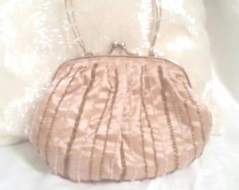 wedding bag, champagne colour, bridal purse, bridal bag, wedding purse, pale gold, beaded bag, small wedding bag