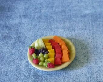 Watermelon papaya strawberry grape Miniature fruit Dollhouse miniatures/ 1 12 scale miniature/ miniature items
