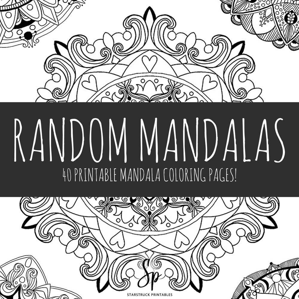Printable adult coloring book mandala coloring pages PDF