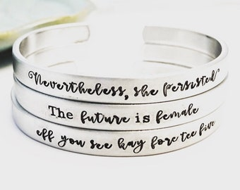 Nevertheless she persisted ~ The Future Is Female ~ Eff You See Kay Fore Tee Five ~ Feminist ~ Solidarity ~ Political ~ Election 2018
