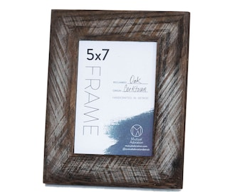 4x6 Picture Frame Reclaimed Wood Custom Color Wooden