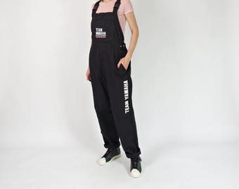 Vintage Yamaha Team black workwear overalls