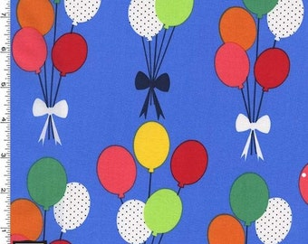 Balloons on Sky Blue from Michael Miller's Funfair Collection