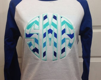 Personalized Monogrammed Baseball Tee