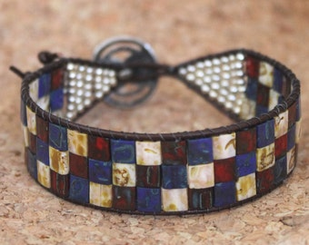 SALE-Red, White and Blue Tila Cuff
