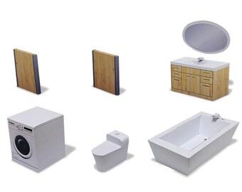 Bathroom #002 - ifunwoo miniature Paper Craft