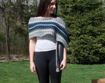 Cascade Crochet Shawl, Wrap