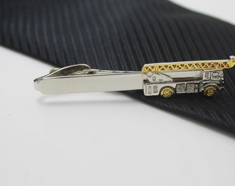 Train Tie Clip, Silver Accessories, Novelty Accessories, Gift For Man