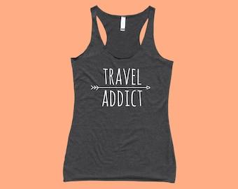 Travel Addict - Fit or Flowy Tank