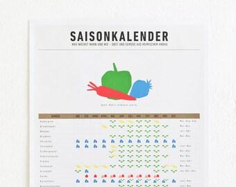 The season calendar