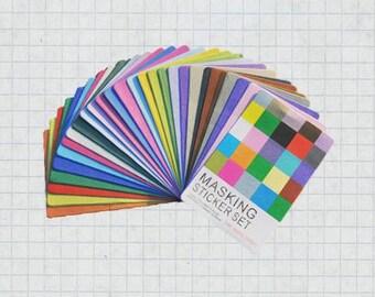 27 Sheets Masking Sticker Set - Paper Stickers - Deco Stickers - Masking Sticker - solid version