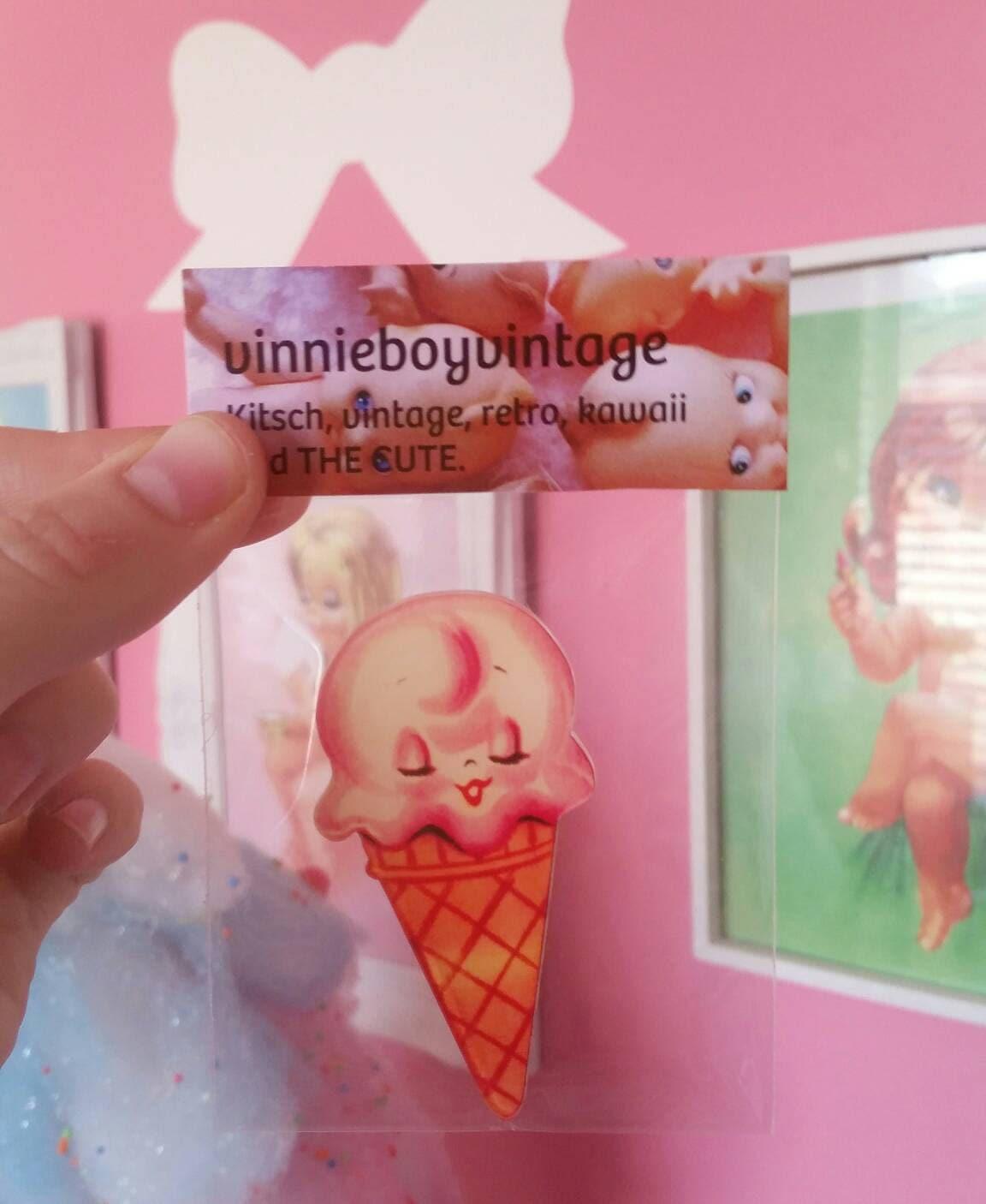 Kitschig süße Eis süße Kühlschrank Magnet Vintage inspirierte