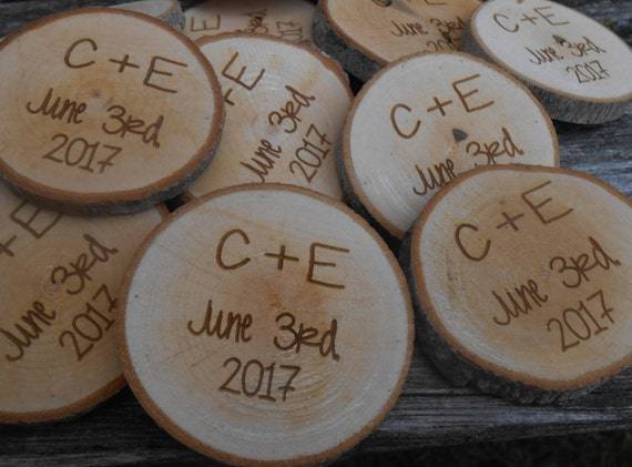 50 PERSONALIZED Initials Wood Rounds. Laser Cut, Rustic Wedding Favor, Table Confetti. Monogram, Letter