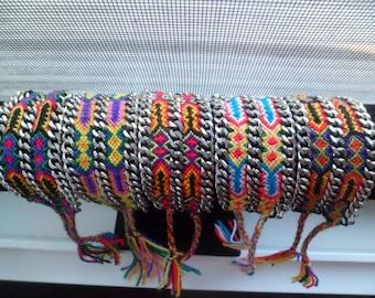Handmade double chain friendship bracelets